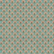 Inprint Indian Spice Market - 4517 - Pink Fruit Trees on Blue - 2019 T36 - Cotton Fabric